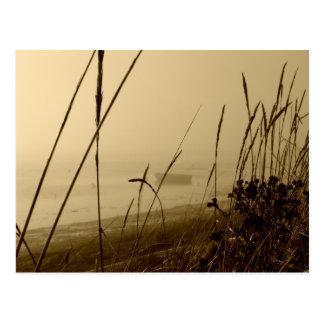 Rowboat In Fog Postcard