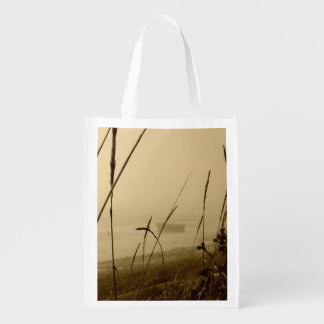 Rowboat In Fog Market Totes