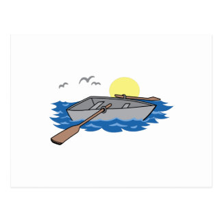 ROWBOAT ON LAKE POSTCARD