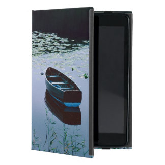 Rowboat on small lake surrounded by water iPad mini cover
