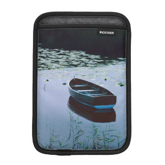 Rowboat on small lake surrounded by water iPad mini sleeve