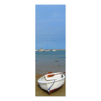 Rowboat on the Shore of Block Island Business Card Template