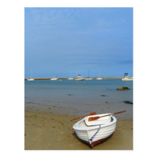 Rowboat on the Shore of Block Island Postcard