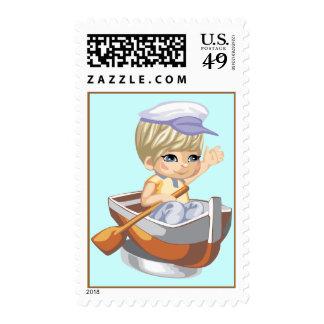 Rowboat Stamp