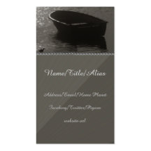 Rowboat Under Cloud Business Card Template