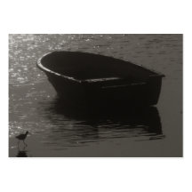 Rowboat Under Cloud Business Card Templates