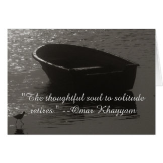 Rowboat Under Cloud Card