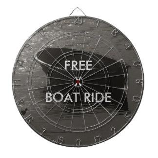 Rowboat Under Cloud Dart Board