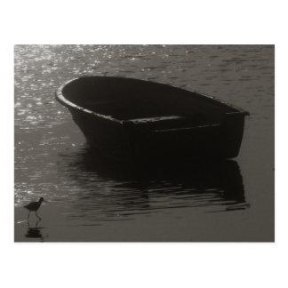 Rowboat Under Cloud Postcard