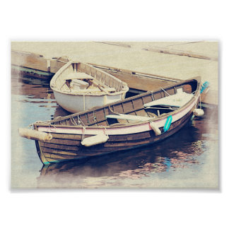 Rowboat Wooden Boats Nautical Poster