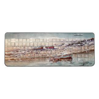 Rowboats Boats Ocean Beach Sea Wireless Keyboard