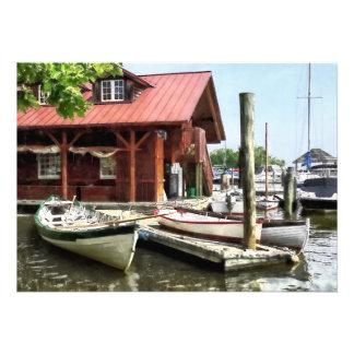 Rowboats by Founders Park Alexandria VA Cards