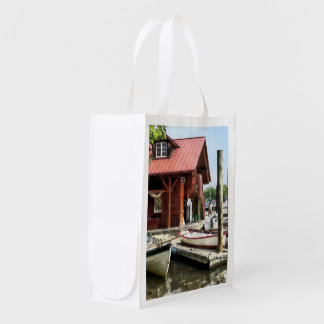 Rowboats by Founders Park Alexandria VA Reusable Grocery Bag