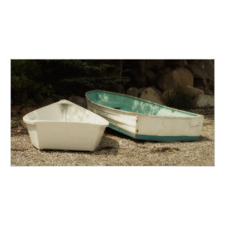 Rowboats Wooden Boats Nautical Poster
