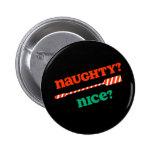 RowChick Christmas Naughty OAR nice? 2 Inch Round Button