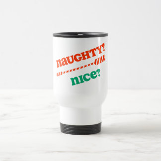 RowChick Christmas Naughty OAR nice? Travel Mug
