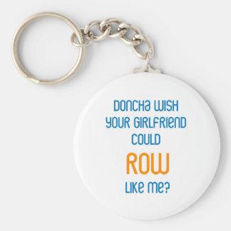 RowChick Doncha Basic Round Button Keychain