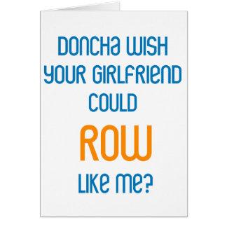 RowChick Doncha Tarjeta De Felicitación