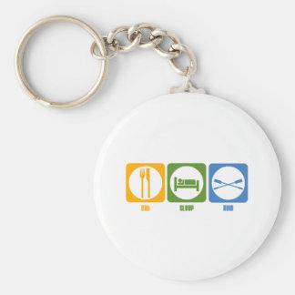 RowChick Eat Sleep Row Basic Round Button Keychain