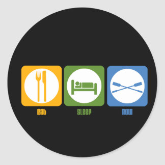 RowChick Eat Sleep Row Classic Round Sticker