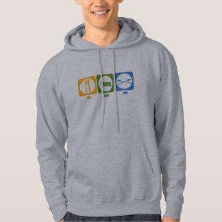 RowChick Eat Sleep Row Hooded Sweatshirt
