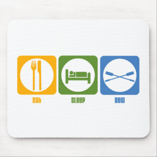 RowChick Eat Sleep Row Mouse Pad