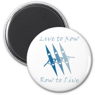 RowChick Live to Row 2 Inch Round Magnet