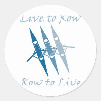 RowChick Live to Row Classic Round Sticker
