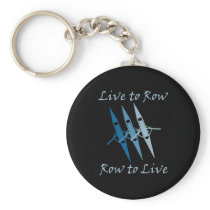 RowChick Live to Row Keychain