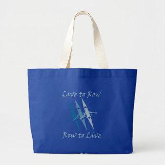 RowChick Live to Row Large Tote Bag