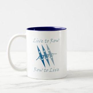 RowChick Live to Row Two-Tone Coffee Mug