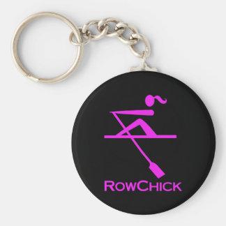 RowChick Logo Basic Round Button Keychain