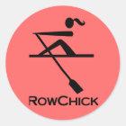 RowChick Logo Classic Round Sticker