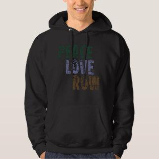 RowChick Peace Love Rowing Hooded Sweatshirt