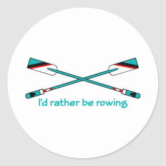 RowChick Rather Classic Round Sticker