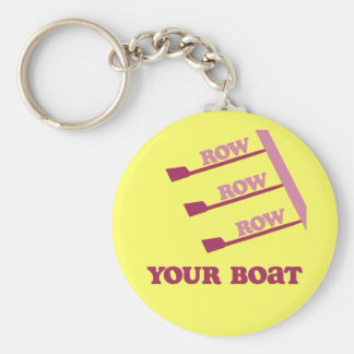 RowChick Row Row Row Your Boat Basic Round Button Keychain