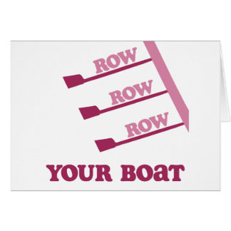 RowChick Row Row Row Your Boat Card