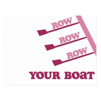 RowChick Row Row Row Your Boat Postcard