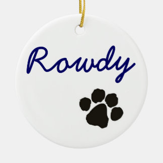 Rowdy - dog pendant ceramic ornament