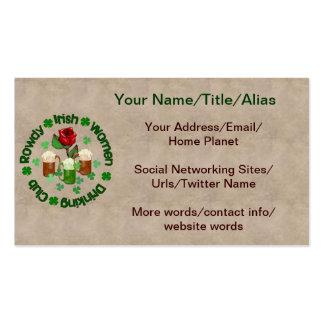 Rowdy Irish Women Business Card Templates