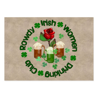 Rowdy Irish Women Business Card Template