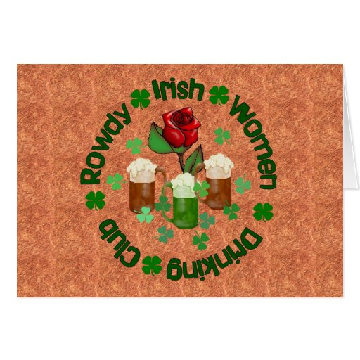 Rowdy Irish Women Card
