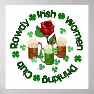 Rowdy Irish Women Poster