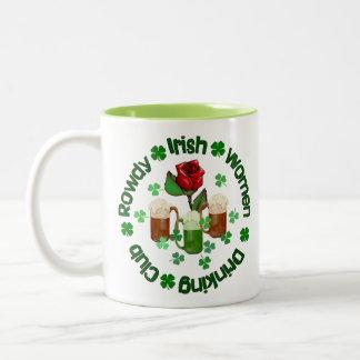 Rowdy Irish Women Two-Tone Coffee Mug
