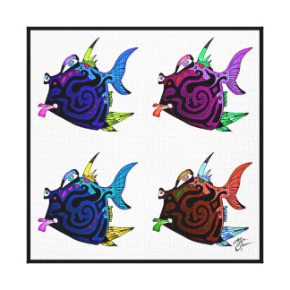 """Rowdy Rhonda"" Fish With Attitude Canvas Print"