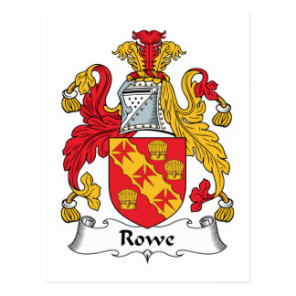 Rowe Family Crest Postcard