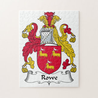 Rowe Family Crest Jigsaw Puzzle