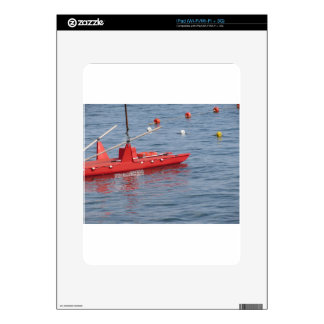 Rowed rescue catamaran at sea iPad skins