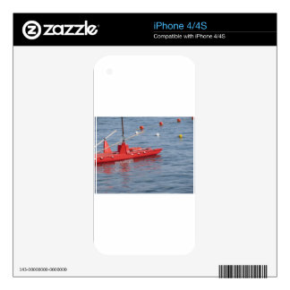 Rowed rescue catamaran at sea iPhone 4S decals