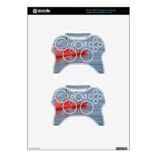 Rowed rescue catamaran at sea xbox 360 controller decal